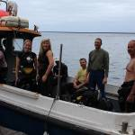 Arriving from a Boat dive in St Helan