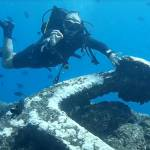 Diving on an anchor St Helena