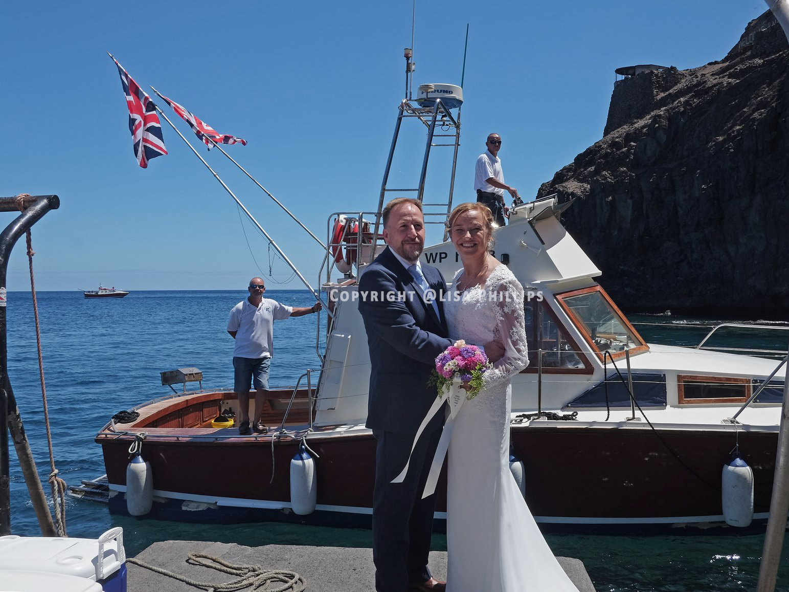 A perfect day for a wedding on St Helena