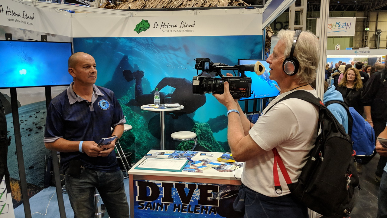 Dive Saint Helena exhibits at UK Dive show 2018